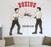 Old School Boxing Wall Decal - TenStickers