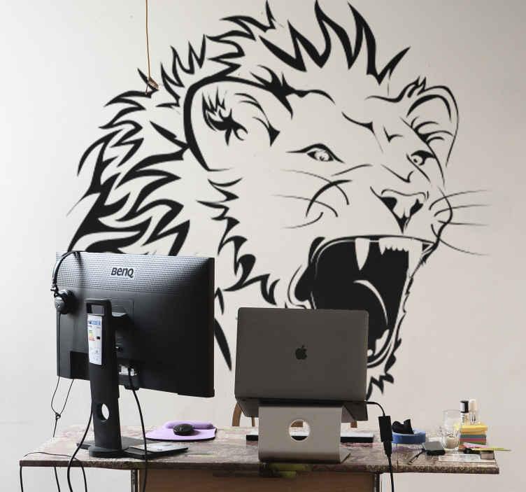 Roaring Lion Wall Sticker  TenStickers