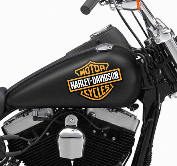 Aufkleber Logo Harley Davidson  TenStickers