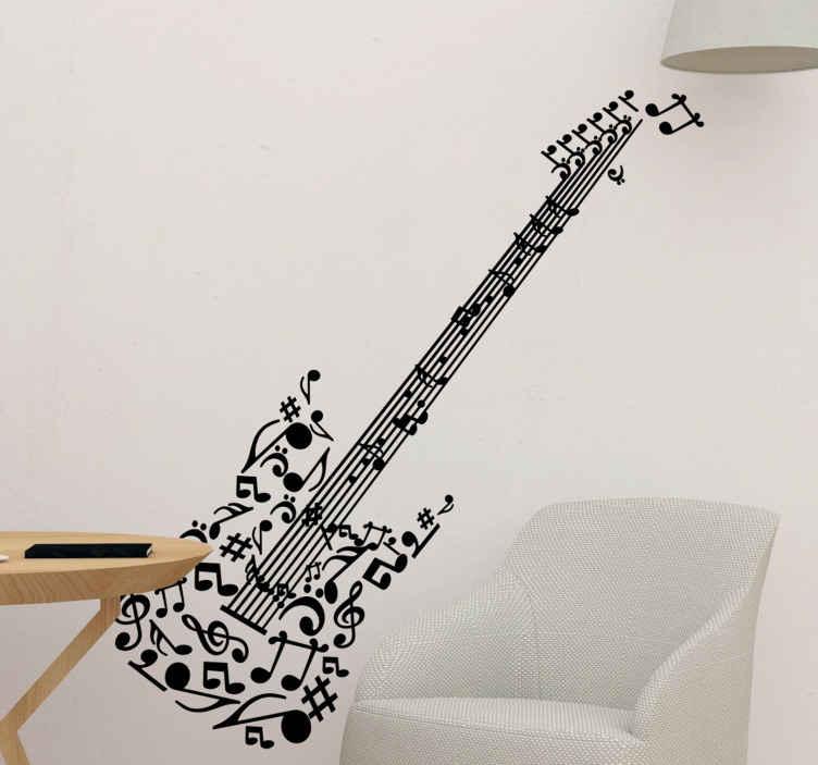 Wandtattoo Gitarre  TenStickers