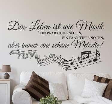 Wandtattoo Musik  fr die Musiker unter euch  TenStickers