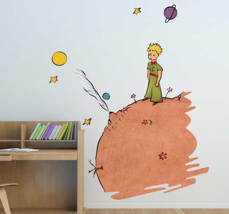 Sticker Enfant Dessin Le Petit Prince Couleur TenStickers