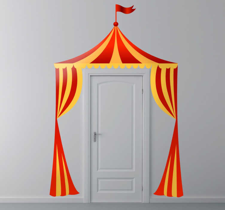 Sticker enfant entre cirque  TenStickers