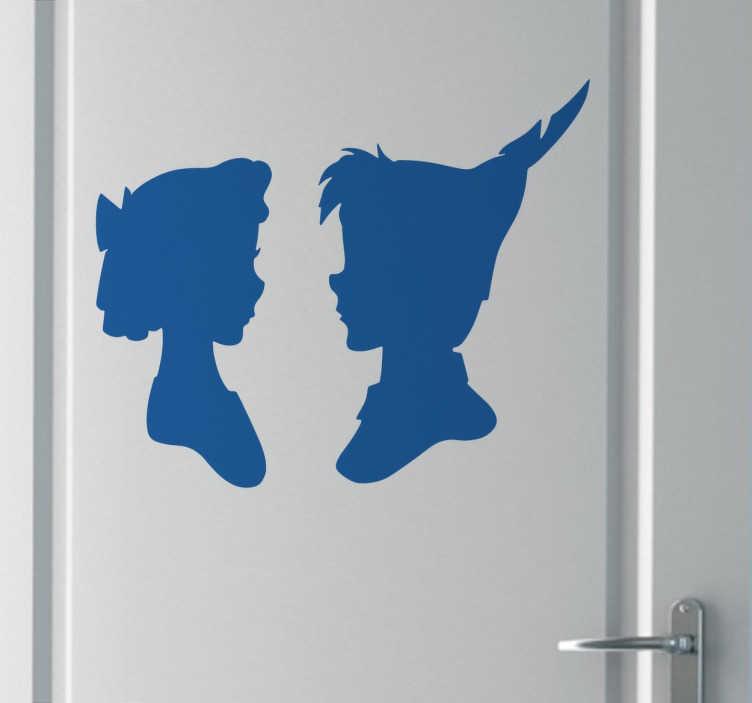 Sticker profil Peter Pan Wendy  TenStickers