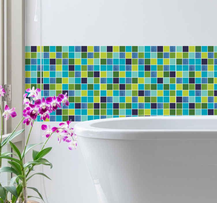 Piastrelle adesive mosaico per bagno o cucina  TenStickers