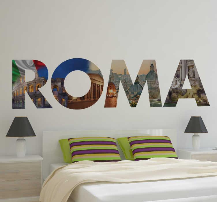 Stencil muro Roma immagini  TenStickers