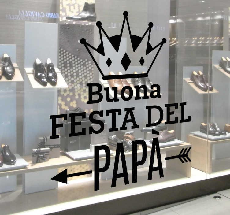 Sticker Buona Festa del Pap  TenStickers