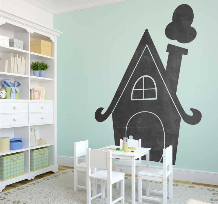Muursticker Krijtbord Huis voor Kinderkamer  TenStickers