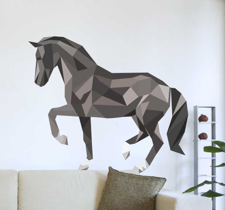Muursticker Paard Modern en Abstract  TenStickers