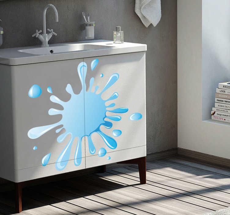 Sticker badkamer decoratie water  TenStickers