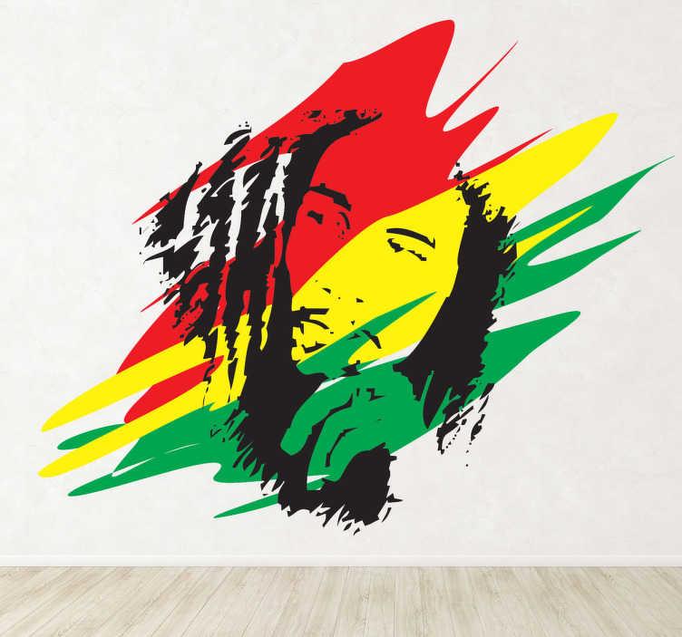 Sticker Bob Marley Jamaica  TenStickers