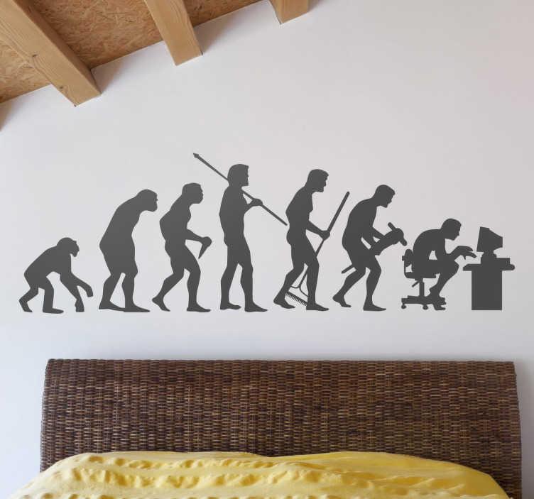 Sticker Evolutie van de mens  TenStickers
