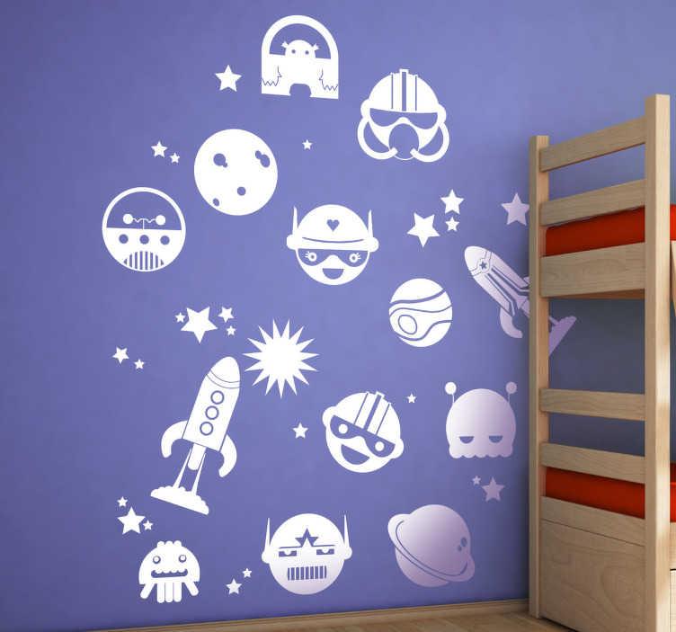 Sticker kind ruimte figuren TenStickers