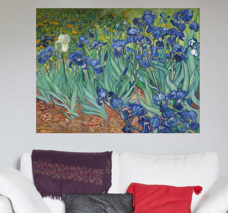 Sticker schilderij bloemen van Gogh  TenStickers