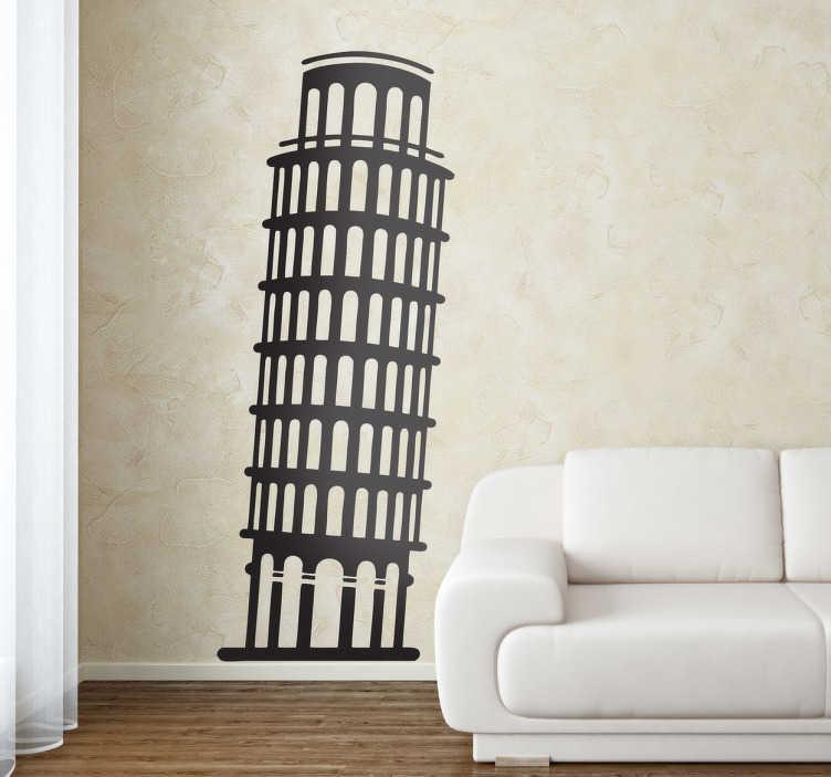 Toren van Pisa Muursticker  TenStickers