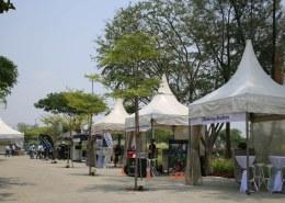 gazebo tents at a park