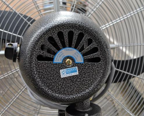 Safety mark for industrial standing fans