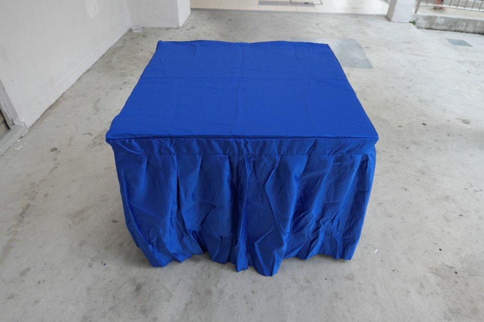 Blue table cloth for square table