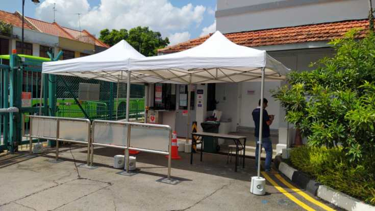portable tent for  screening station