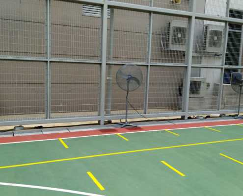 Industrial standing fan for community centre use