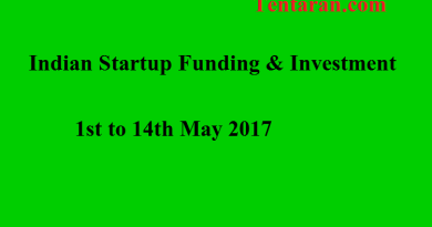 Indian Startup Funding & Investment 1st to 14th May 2017