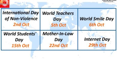 What is the day today - Some special days in October 2017