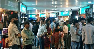 Exploring the street shops at Connaught Place