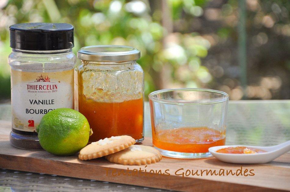 Confiture d'abricot vanille et romarin