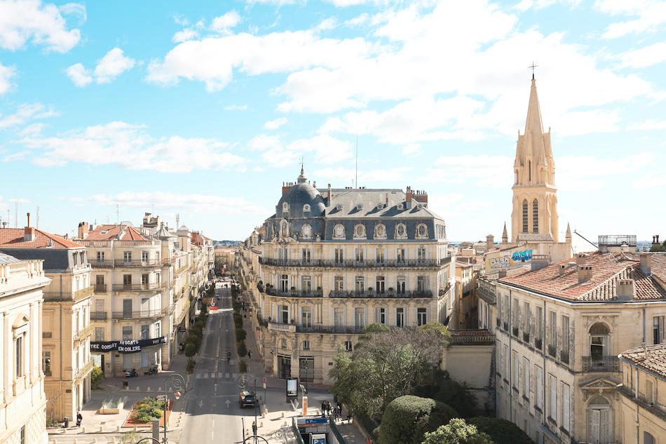 La rue Foch à Montpellier