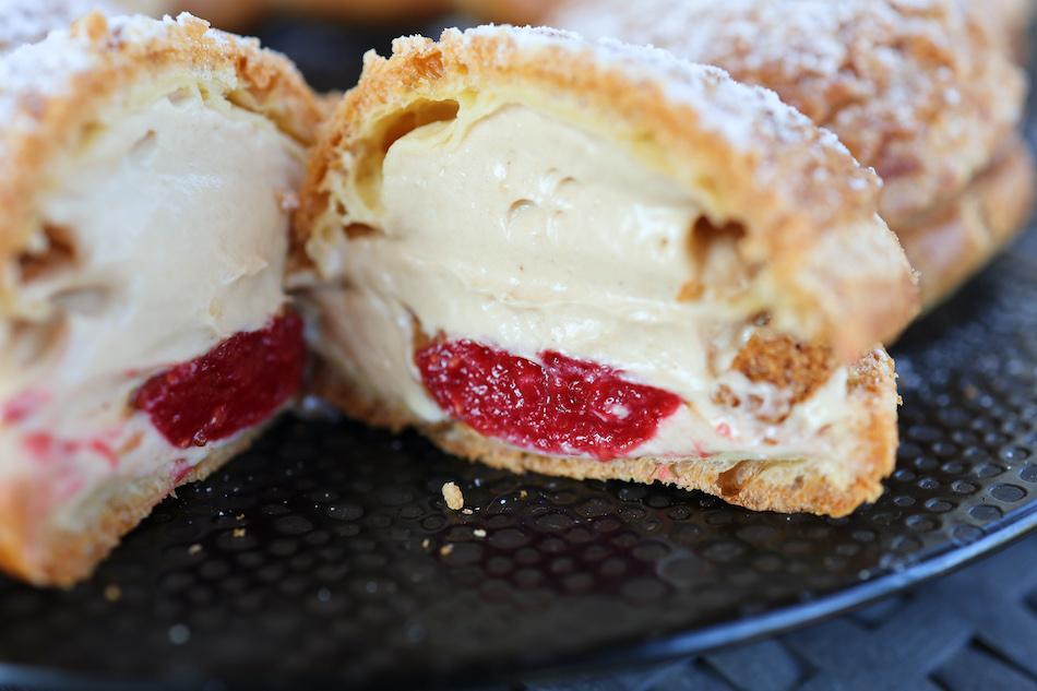 Le Paris-Brest crème de spéculoos fraises framboises et praliné