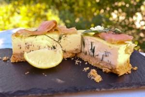 Mon cheese cake au saumon fumé pour 6 personnes