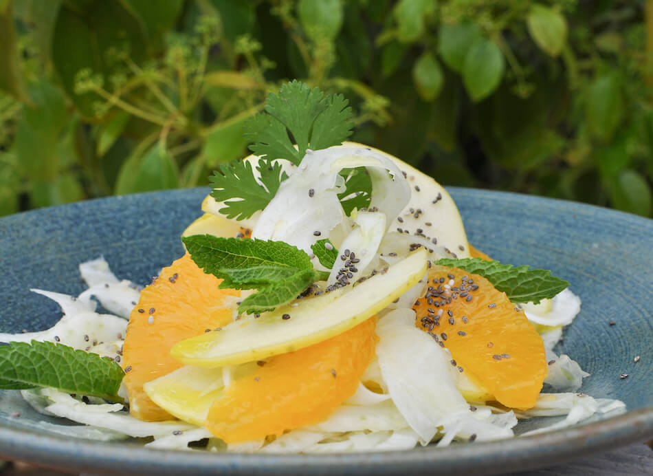 Salade de fenouil à l'assiette