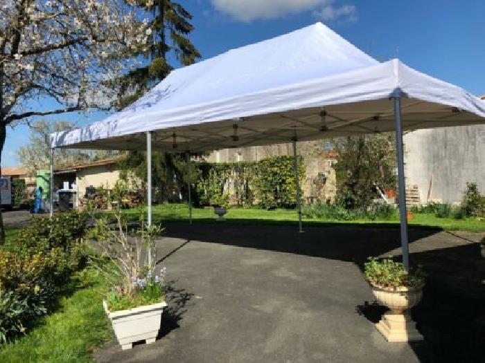 tonnelle pliante tente ancheer tente de reception tonnelle de jardin 3 x 3 m pliante chapiteau pavillon sac de transport blanc