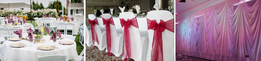 chair covers party hire wedding in bulk linen, draping & decor johannesburg company   010 500 1871