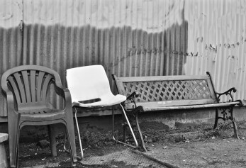 Photo by Kevin McConnellTypically the smokers section of any business always end up being a disconnected collection of chairs set against the back of the business. Take your pick and have a seat.