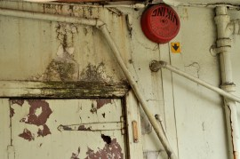 Photo © Kevin McConnellPaint worn door at the back of Army and Navy