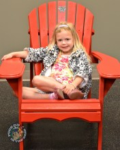A fan in the big red chair! #PaintItRed