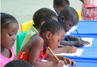 African orphans at school with help from the Grandmothers Campaign