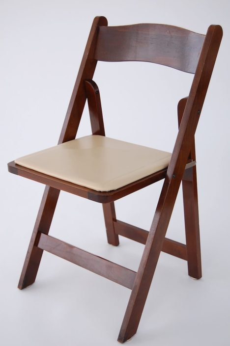 Table and Chair Rentals- Mahogany Padded Chair