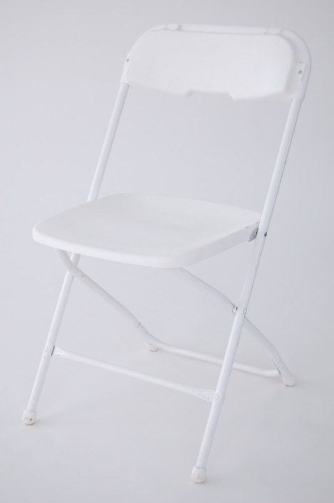 Table and Chair Rentals- Basic White Folding Chair