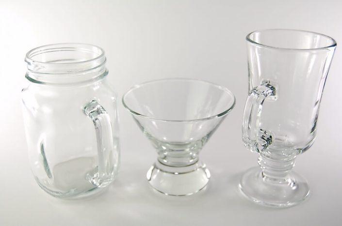 Table setting rentals- Artisan Glassware