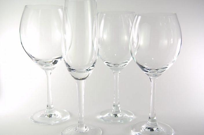 Table setting rentals- Regina Glassware