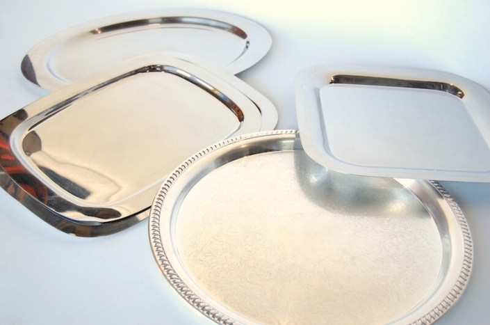 Food and Beverage Rentals-Silver Serving Trays