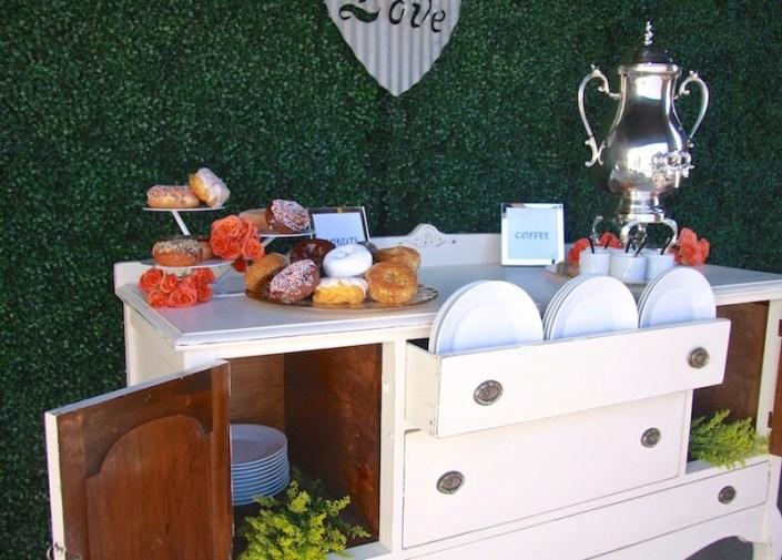 Vintage White Dessert Table Dresser
