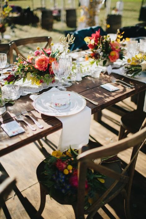 Farm Table & Cross Back Chairs With Wooden Strata Floor