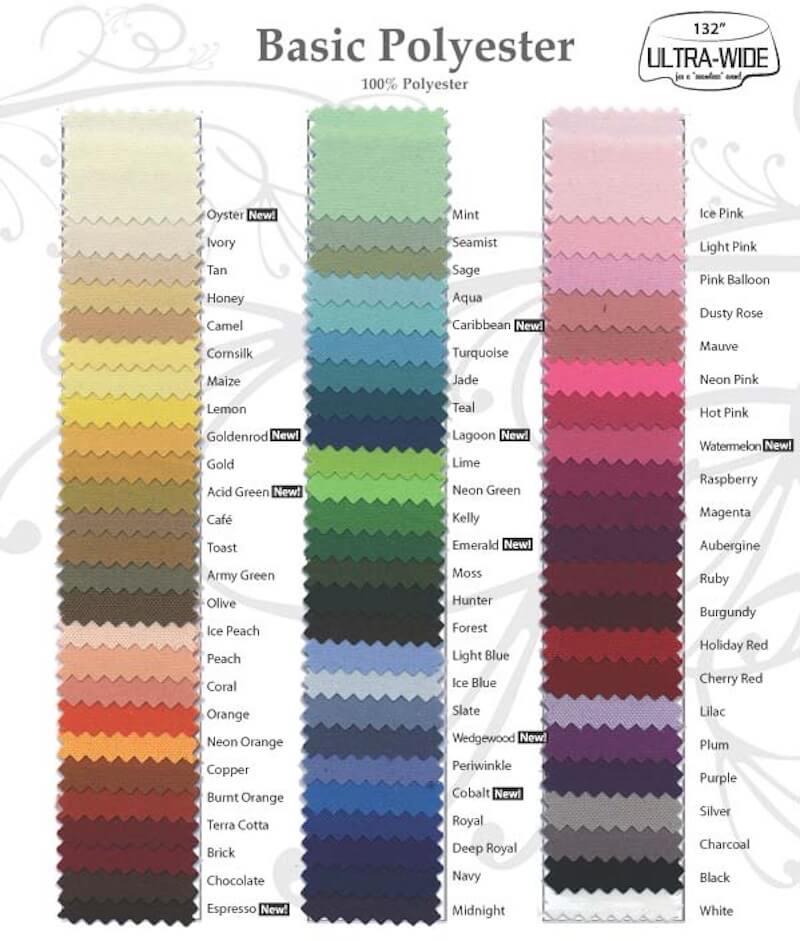 Linen Rentals-Color Swatches