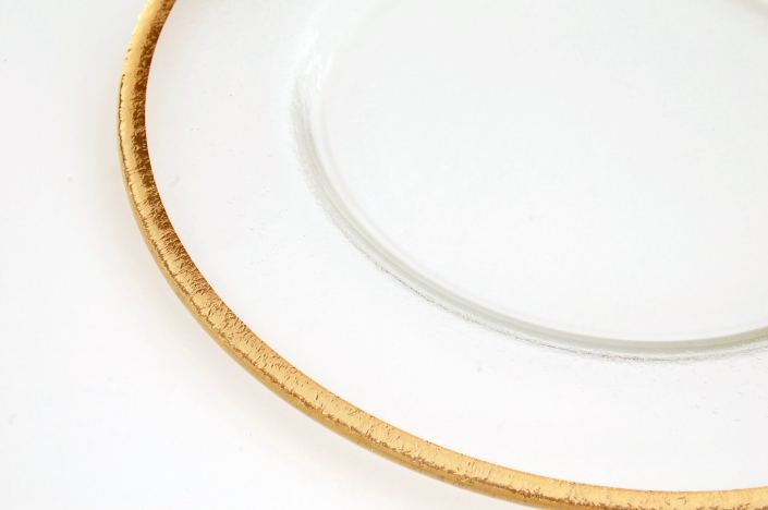 Glass Gold Rimmed Charger