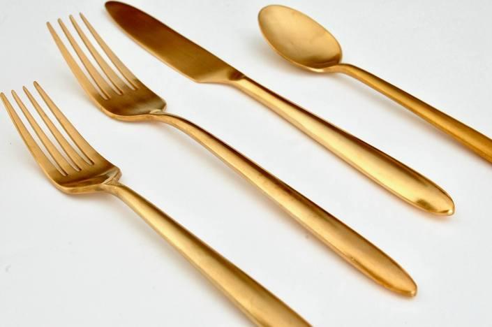 Velo Brushed Gold Flatware