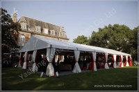 Large Outdoor Backyard Luxury Wedding Tents , Decorating
