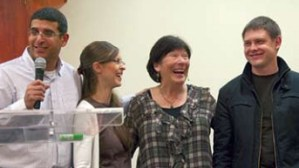 Guy and Tali Cohen share a laugh with Andrey and Tina